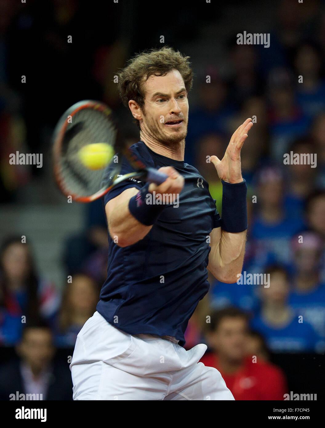 Gent, Belgium, November 29, 2015, Davis Cup Final, Belgium-Great Britain, day three, Andy Murray (GBR)  Photo: Tennisimages/Henk - Stock Image
