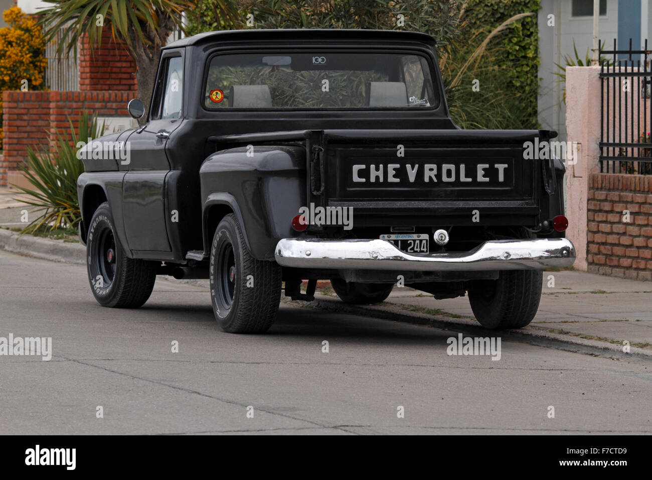 Old Black Chevrolet pick up, Registered in Argentina Stock Photo ...