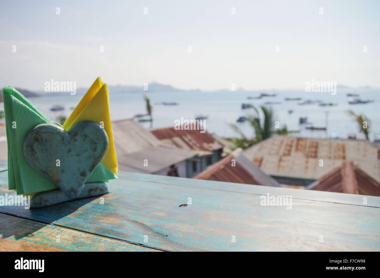 Bay of Labuan Bajo, capital of Flores in Indonesia - Stock Image