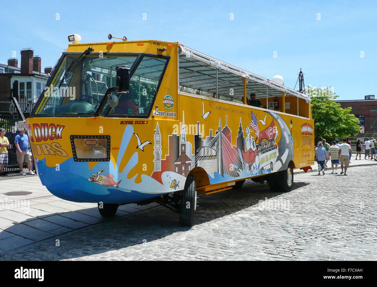 Boston Duck Tours bus Stock Photo