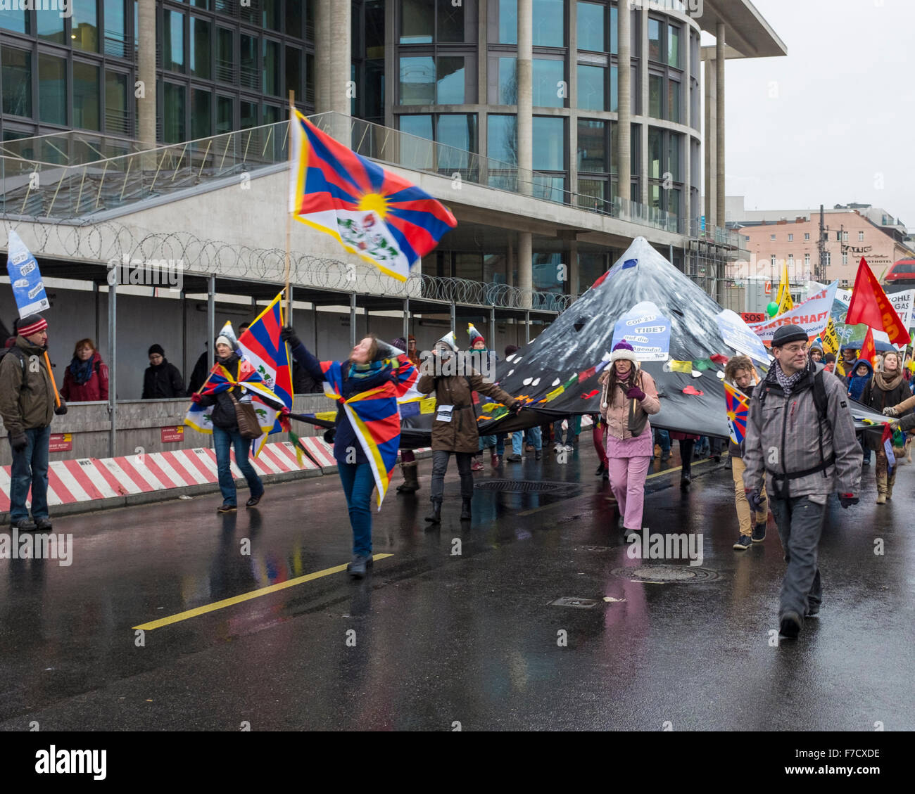 Berlin, Germany. 29th November, 2015. Climate Change March in Berlin, Germany. Credit:  Eden Breitz/Alamy Live News - Stock Image