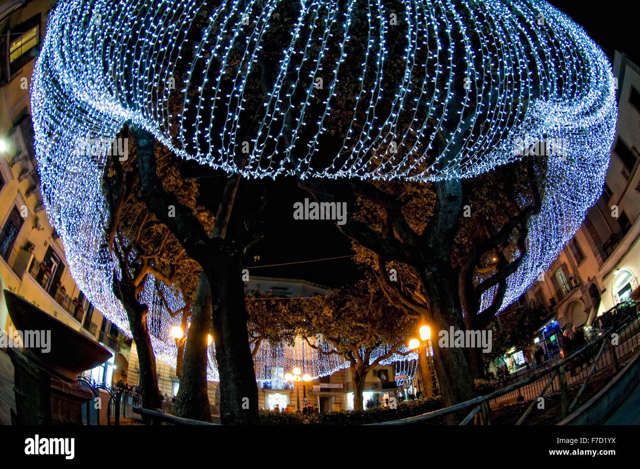 Christmas In Italy Decorations.Pozzuoli Italy 28th Nov 2015 Christmas Time At Pozzuoli