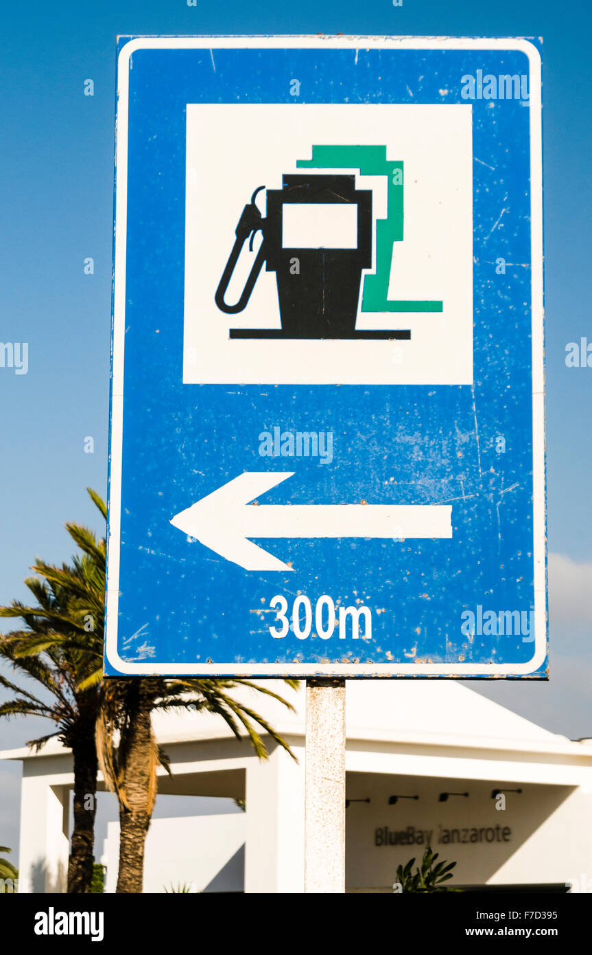 Nearest Fuel Station >> Sign Directing Motorists To The Nearest Petrol Filling Fuel