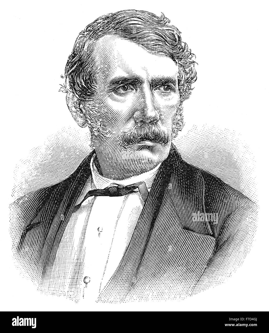 David Livingstone, 1813 - 1873, a Scottish missionary and explorer in Africa - Stock Image