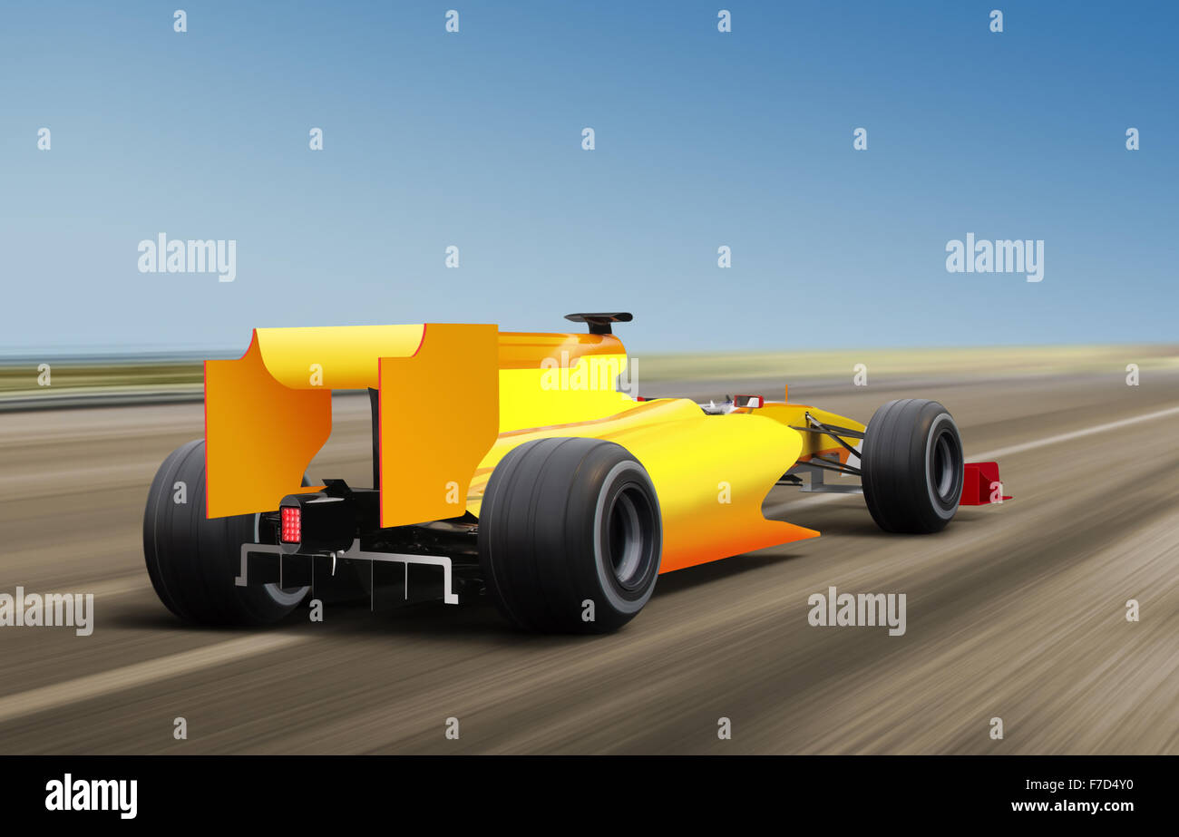formula one race car on speed track - motion blur - Stock Image