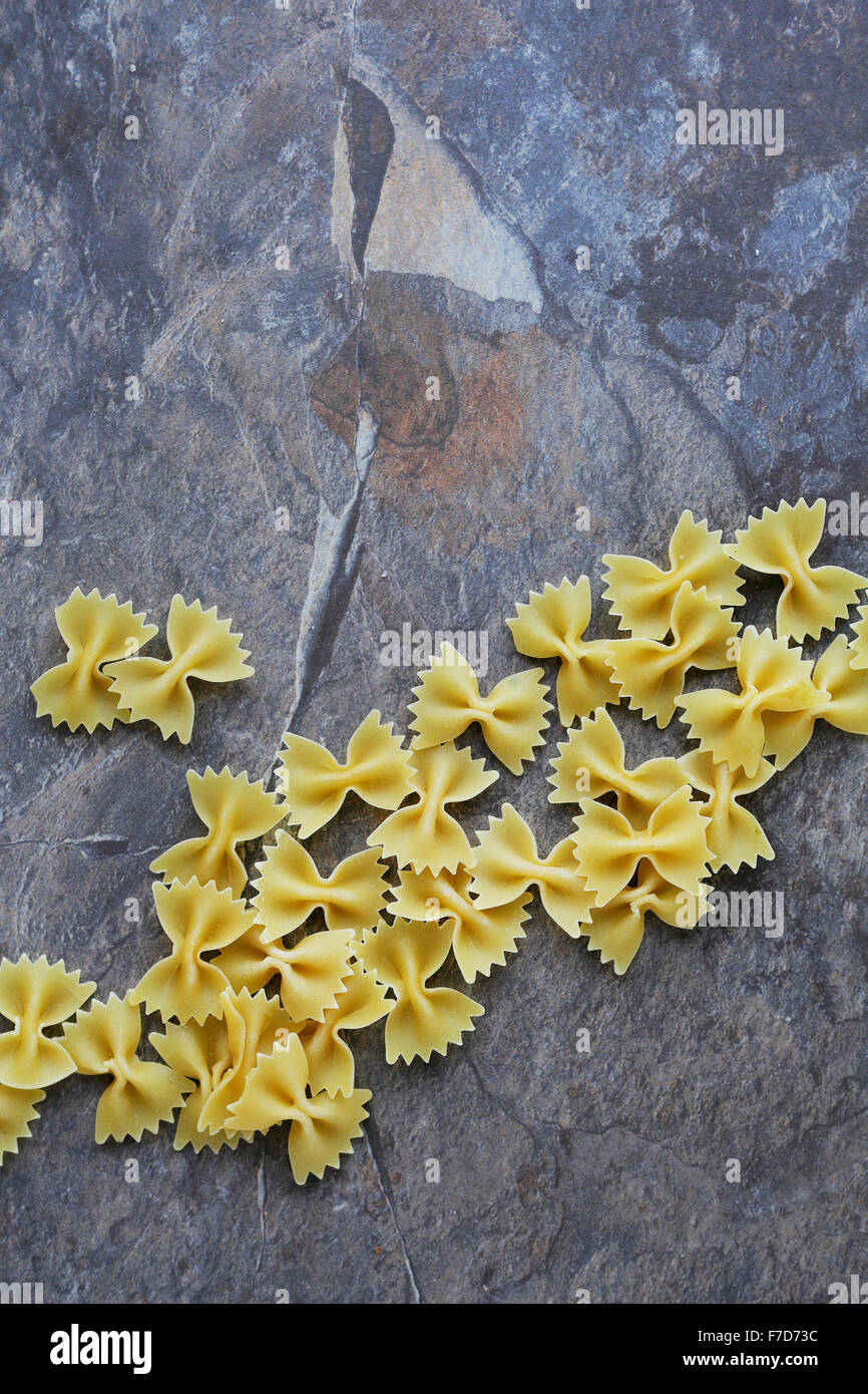 farfalle pasta top view, food cooking Stock Photo