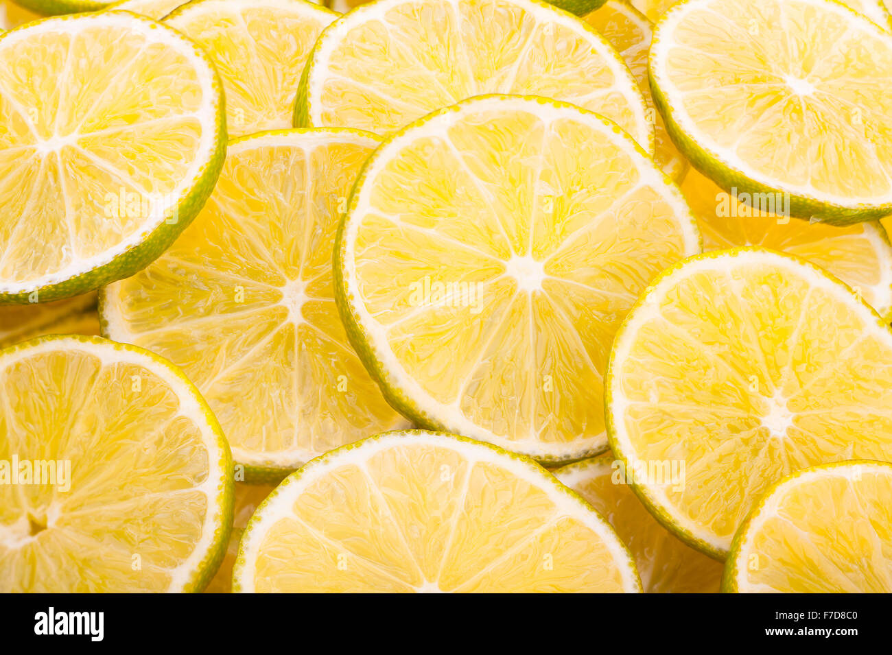 lime slices closeup - Stock Image