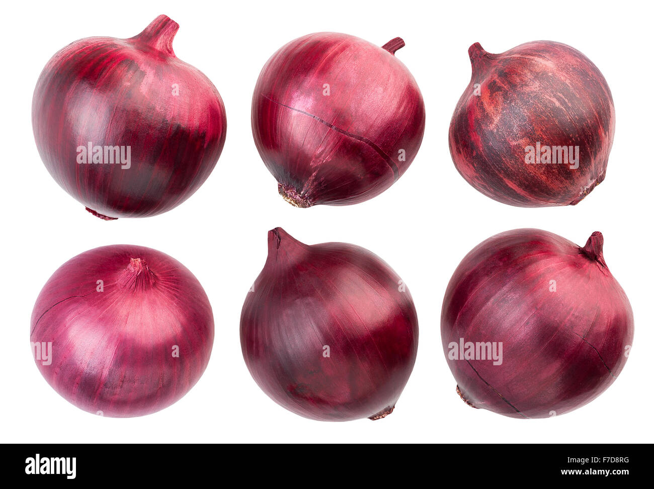 red onions isolated - Stock Image