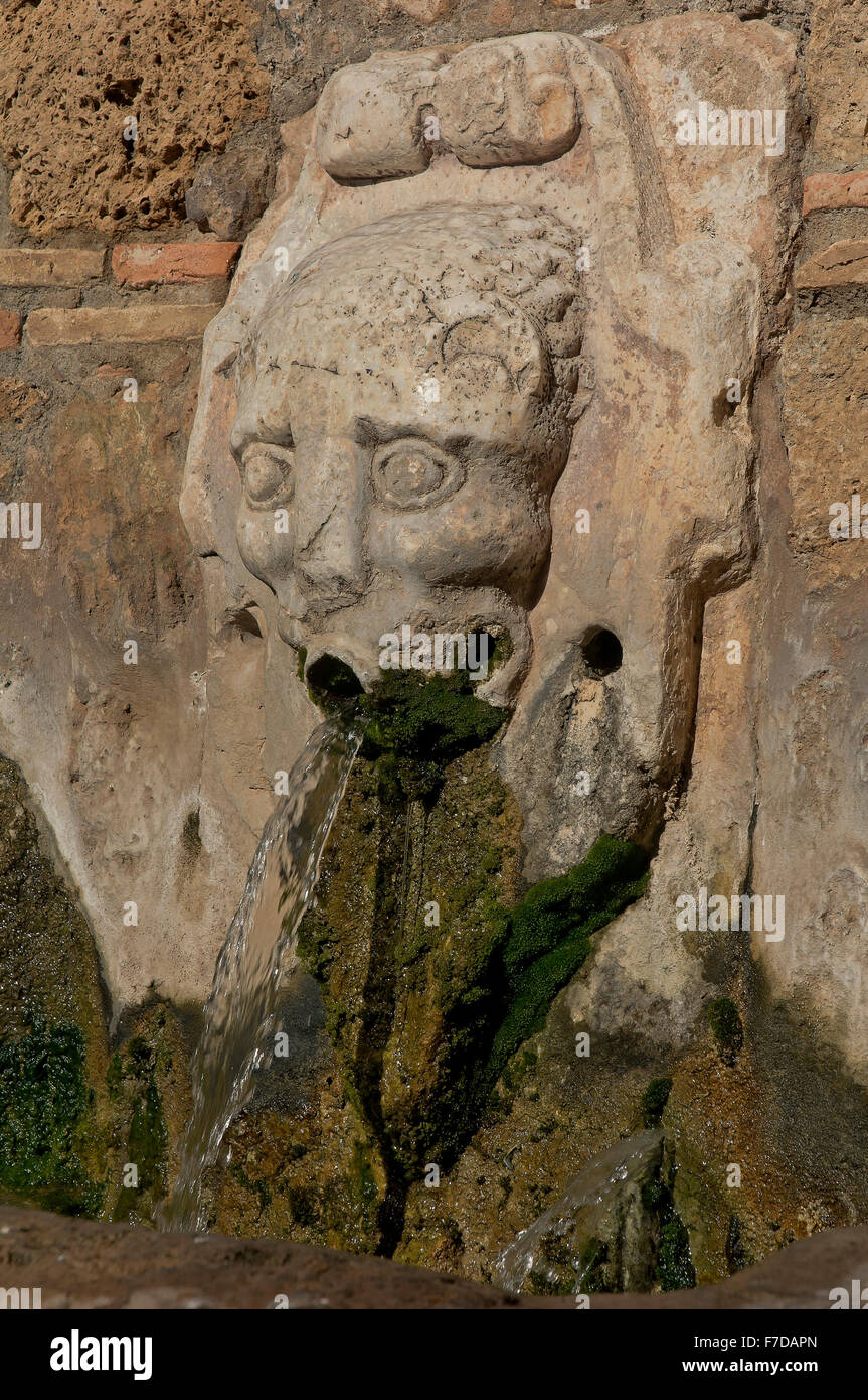 Concejo fountain, 15th century, Zufre, Huelva province, Region of Andalusia, Spain, Europe - Stock Image