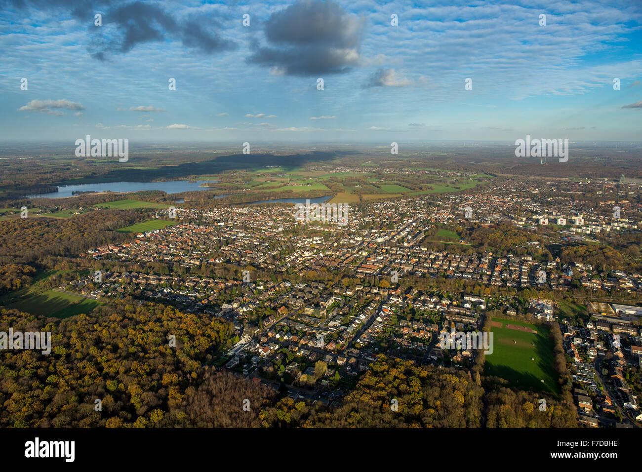 City View Dinslaken, Ruhr region, North Rhine Westphalia, Germany, Europe, Aerial view, birds-eyes view, aerial - Stock Image