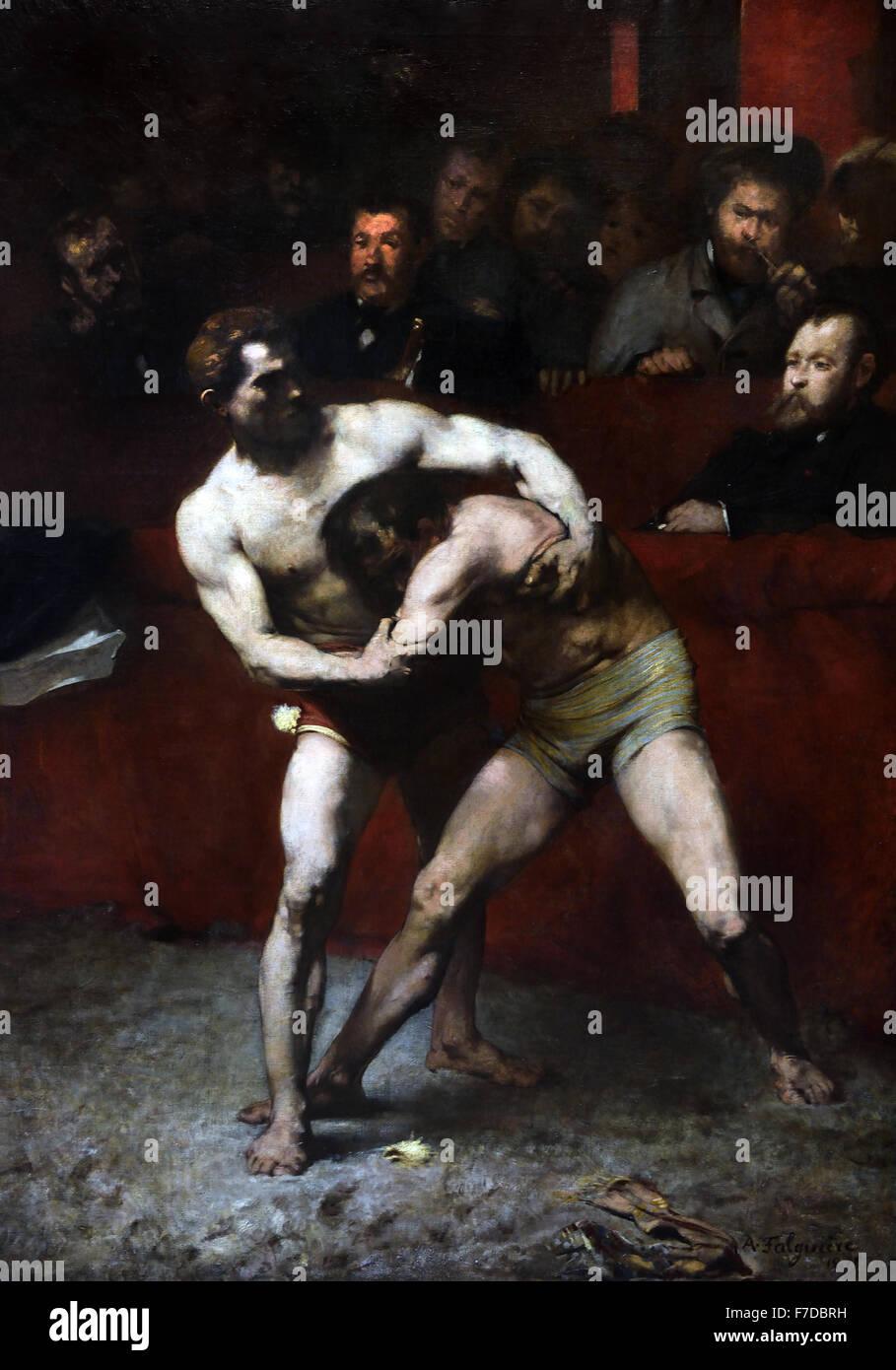 Lutteurs - Wrestlers 1875 Alexandre Falguière 1831 - 1900  France French - Stock Image