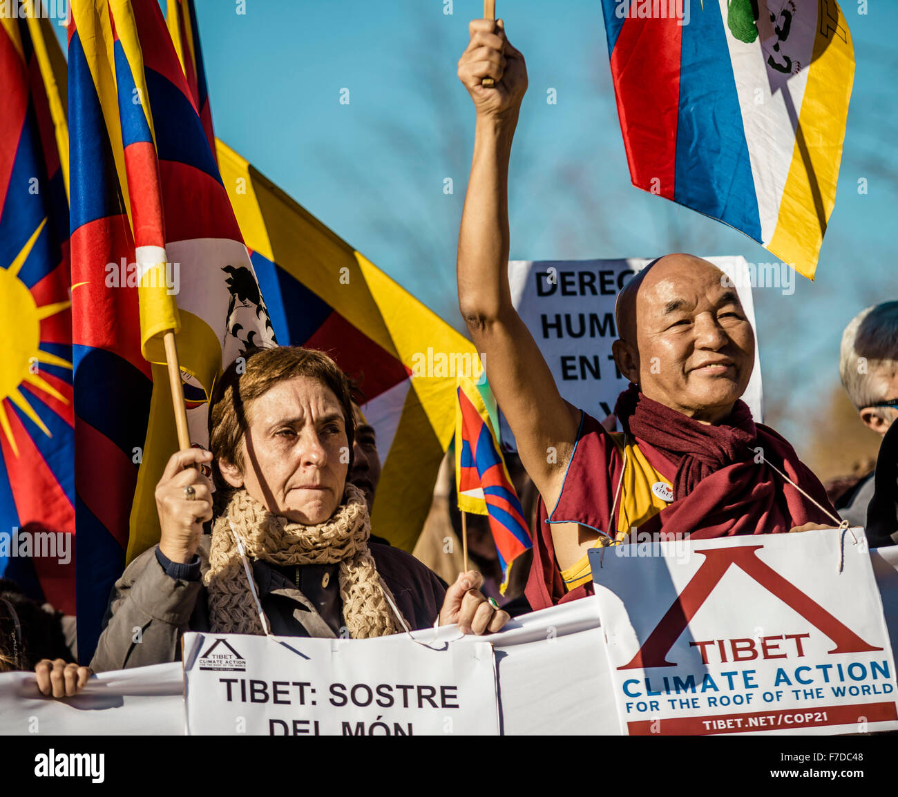 Barcelona, Spain. 29th November, 2015. THUBTEN WANGCHEN, a Buddhist monk and founder of the 'Casa Tibet' - Stock Image