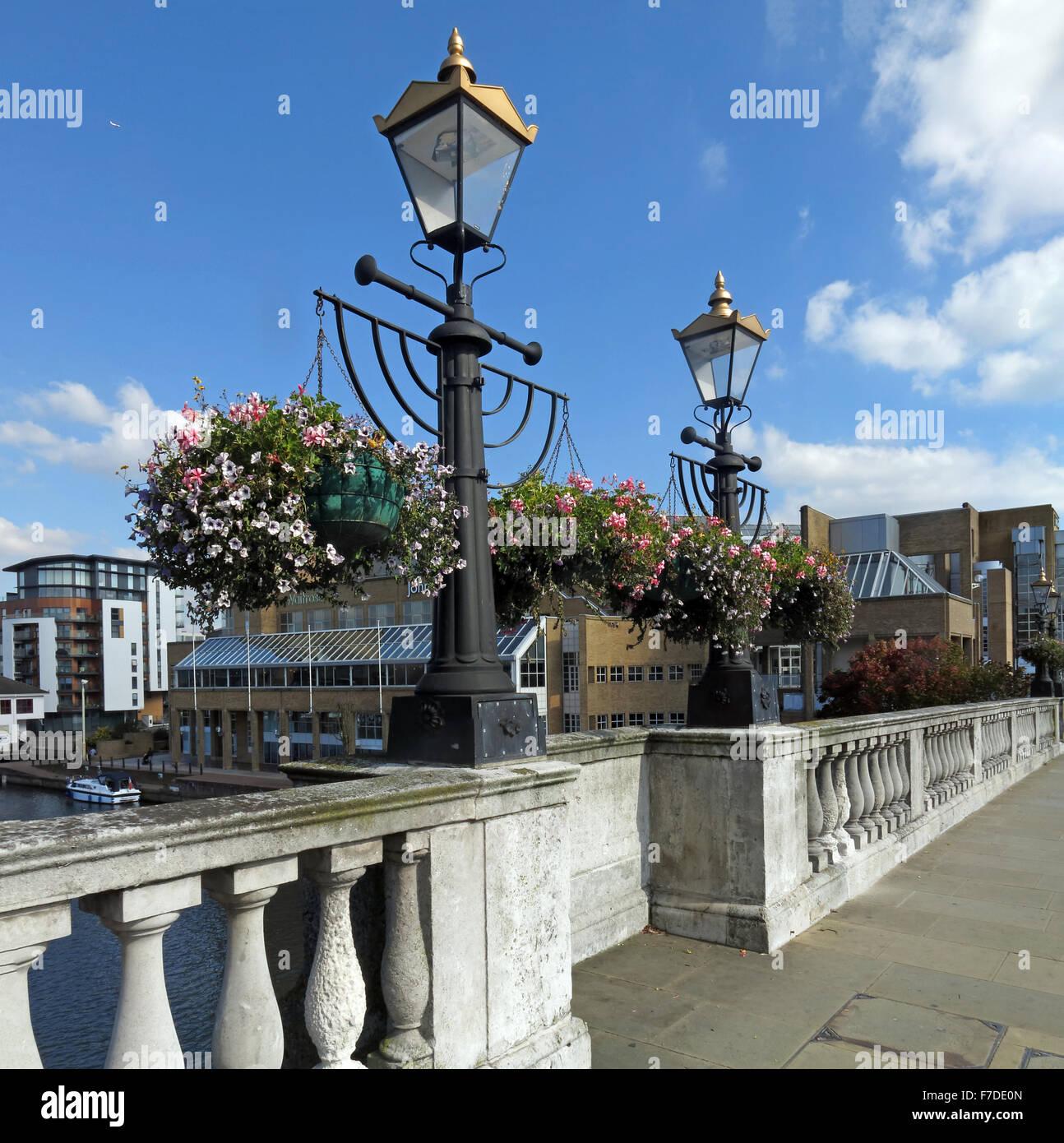 Kingston Bridge, Thames, Horsefair, London,England, UK, KT1 Stock Photo