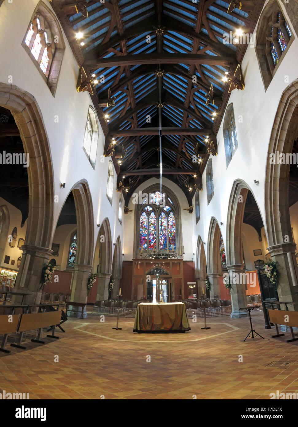 All Saints Church interior, Kingston Upon Thames,London,England,UK - Stock Image