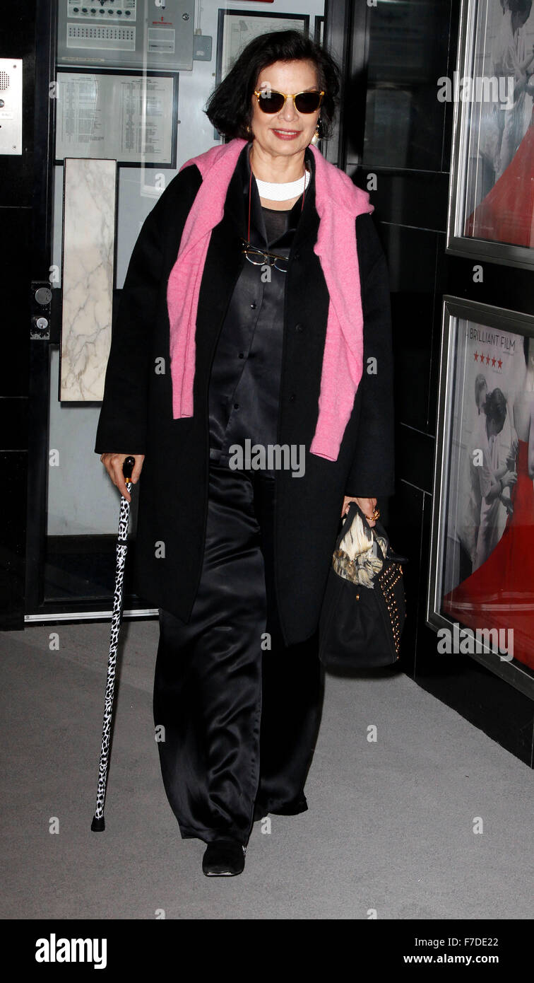 Mar 16, 2015 - London, England, UK - Bianca Jagger attending Dior and I UK Premiere, The Curzon Mayfair - Stock Image