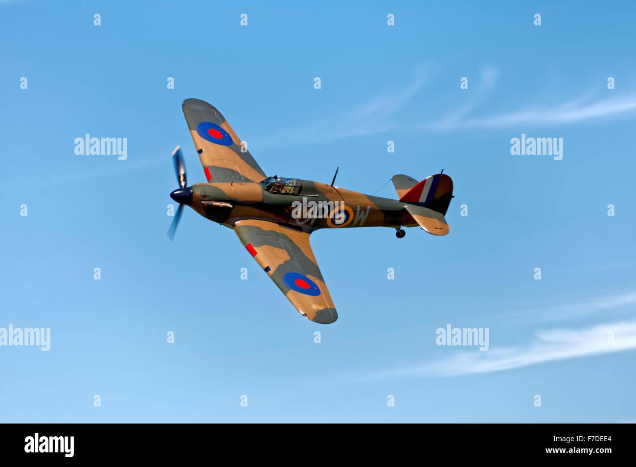 Hawker Hurricane Mk1 - R4118/ G-HUPW. - Stock Image