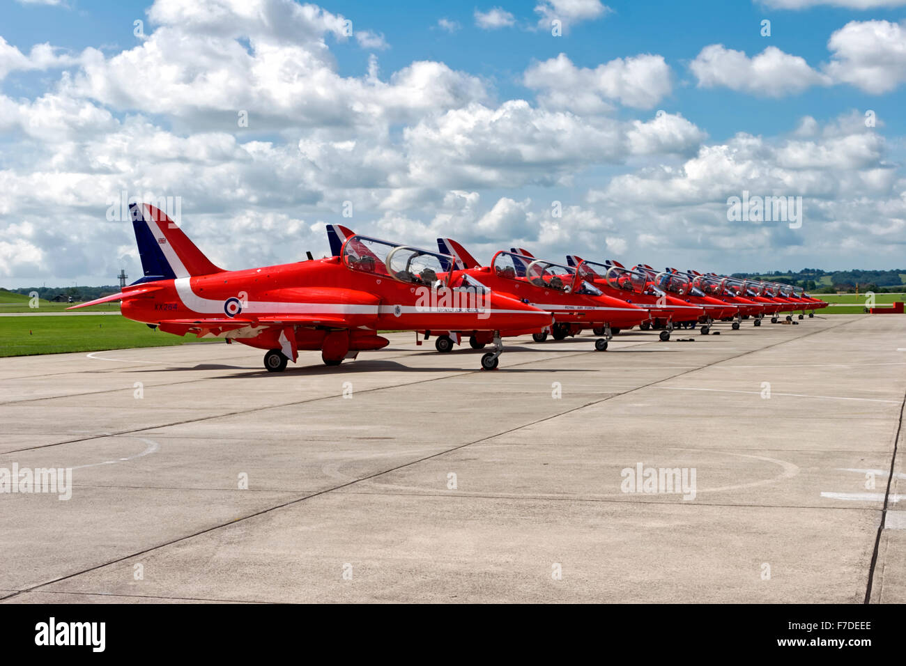 The Royal Air Force Red Arrows Aerobatic Display Team. - Stock Image