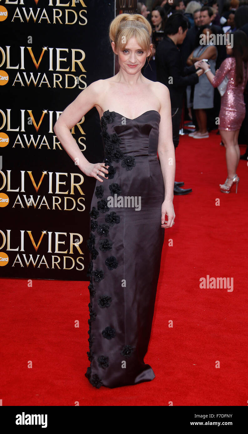Apr 12, 2015 - London, England, UK - Anne-Marie Duff attending The Olivier Awards 2015, Royal Opera House, Covent - Stock Image
