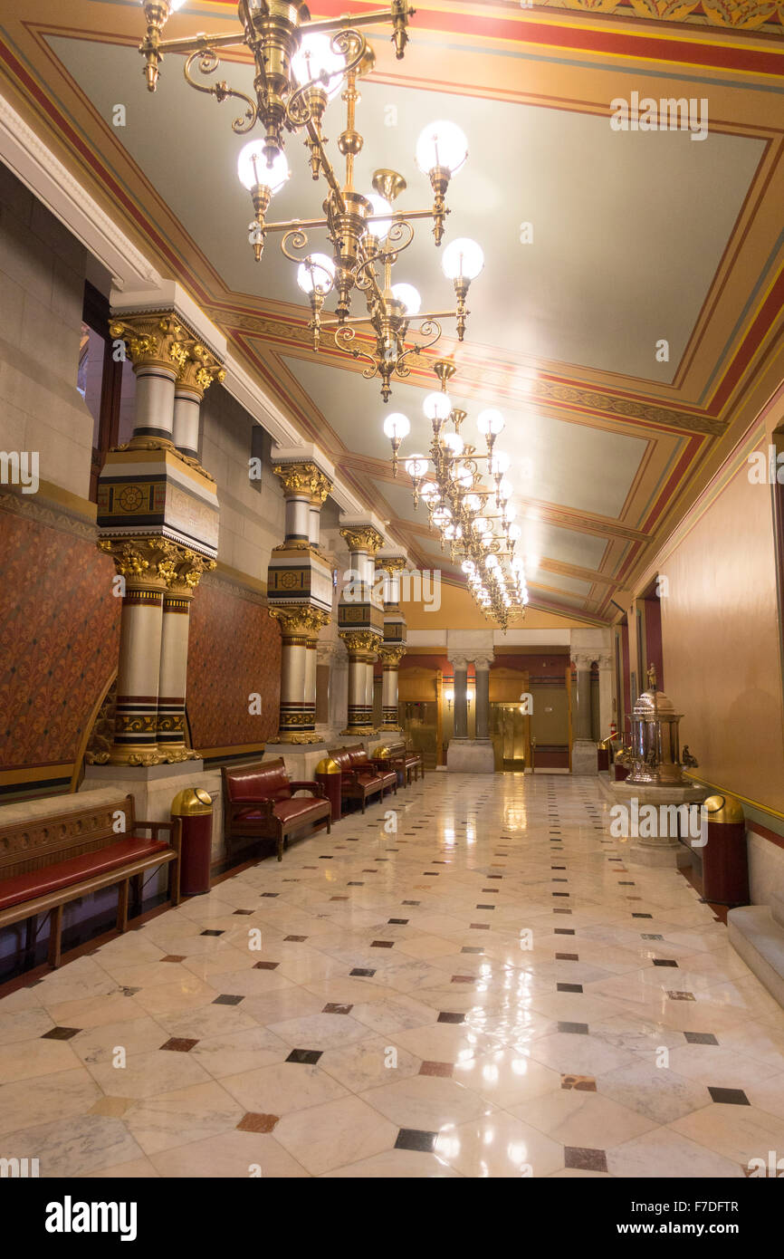 CT Connecticut state capitol building Hartford - Stock Image