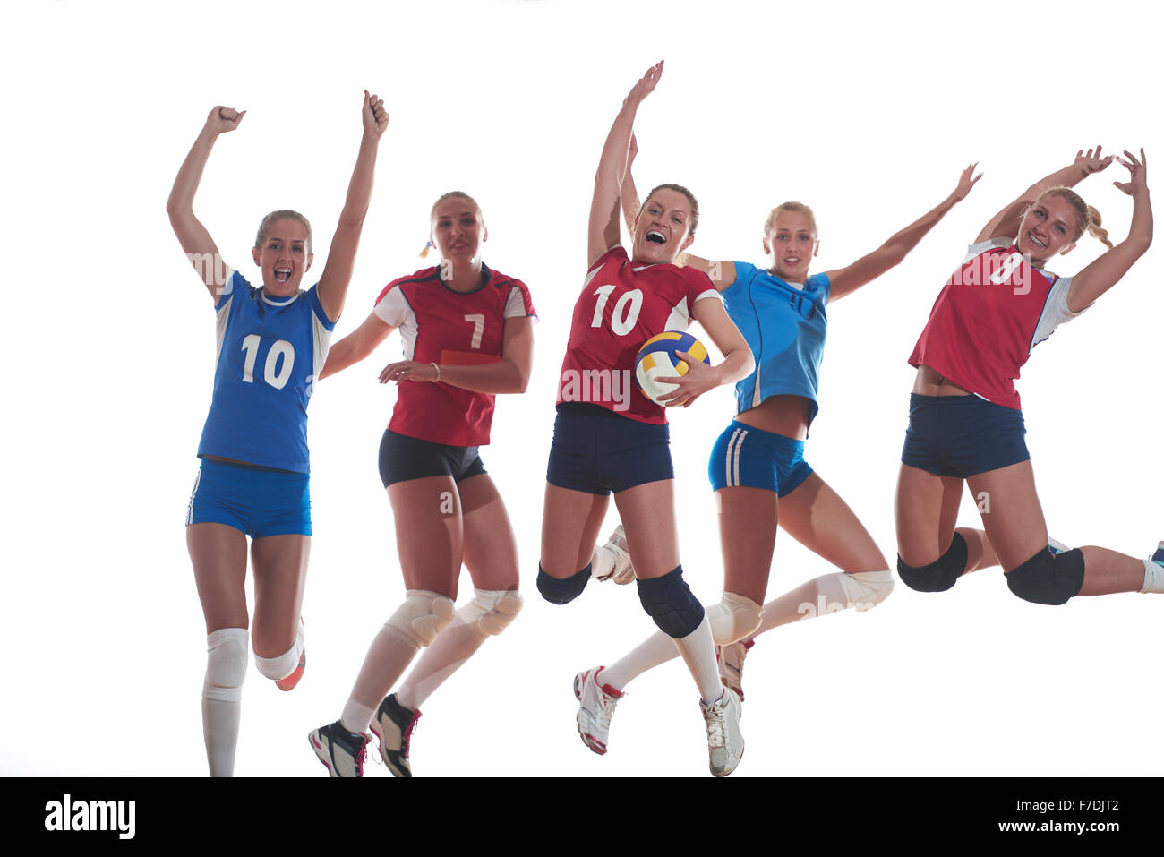 Active Young Women Volleyball Player Sport Stock Vector: Volleyball Indoor Serve Stock Photos & Volleyball Indoor