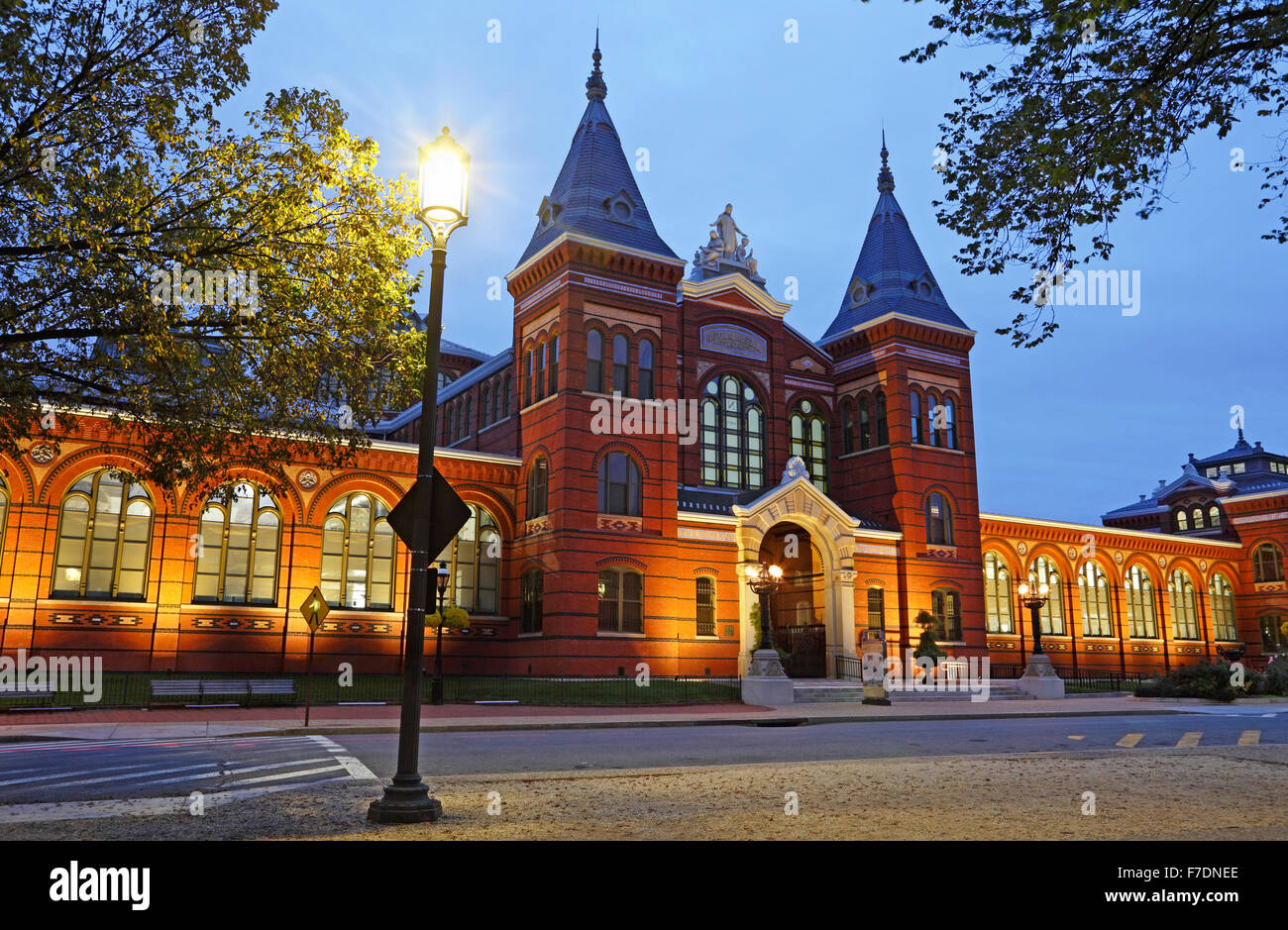 Arts and Industries building, Smithsonian Institution in Washington DC. Formerly the National Museum. - Stock Image