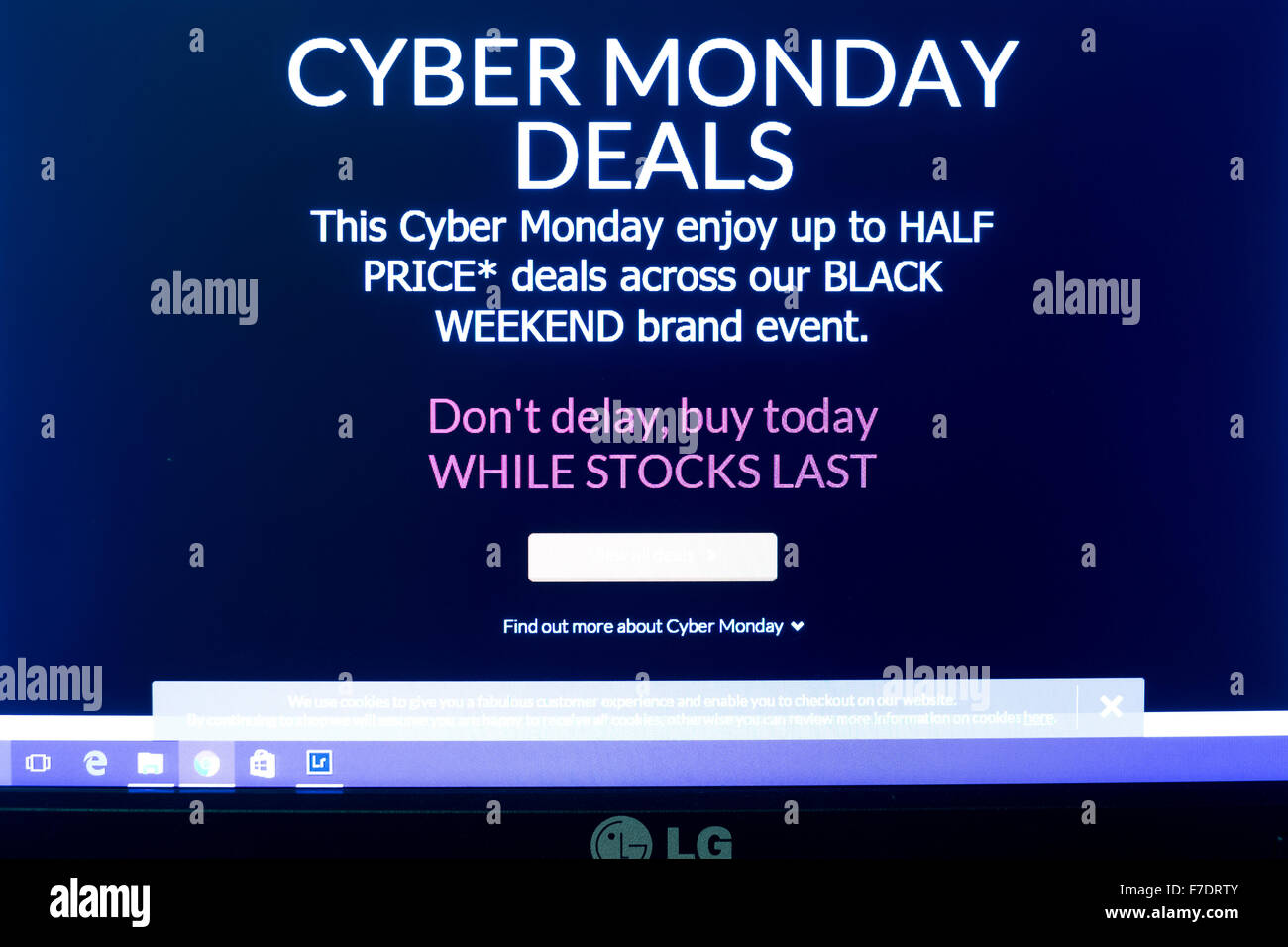Cyber Monday  biggest online shopping day of the year, online retails are expecting a very busy day with record - Stock Image