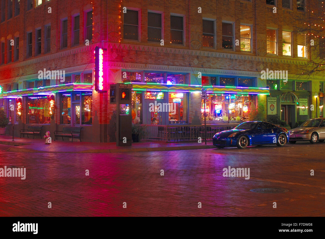 Razoos Restaurant In Downtown Ft Worth Tx Sundance Square Stock