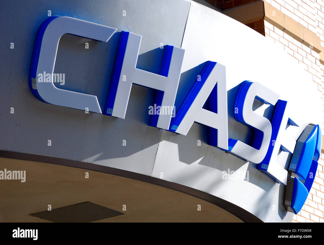 Sign for Chase Bank, one of the largest financial institutions in America. - Stock Image