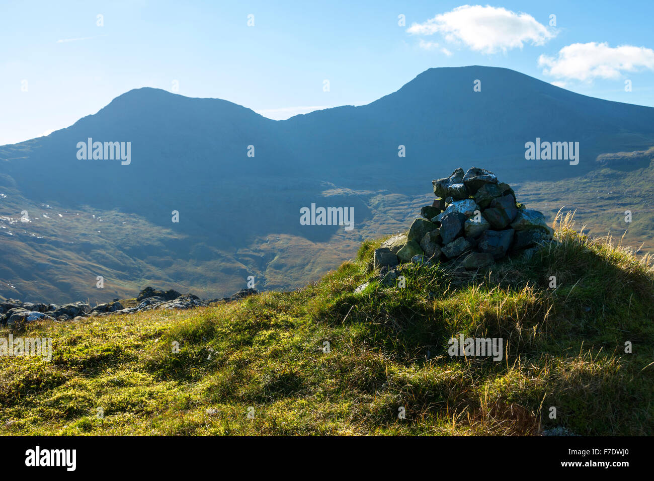 A' Chioch and Ben More from the ridge of Beinn Fhada, Isle of Mull, Argyll and Bute, Scotland, UK - Stock Image
