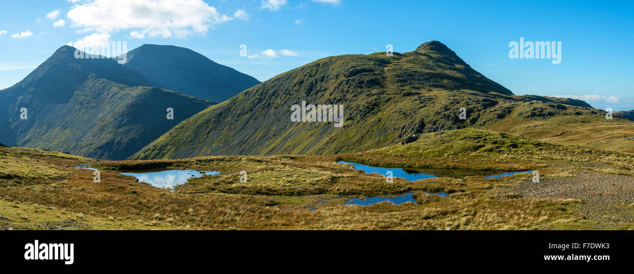 A' Chioch, Ben More and Beinn Fhada from the ridge to An Cruachan, Isle of Mull, Argyll and Bute, Scotland, UK Stock Photo