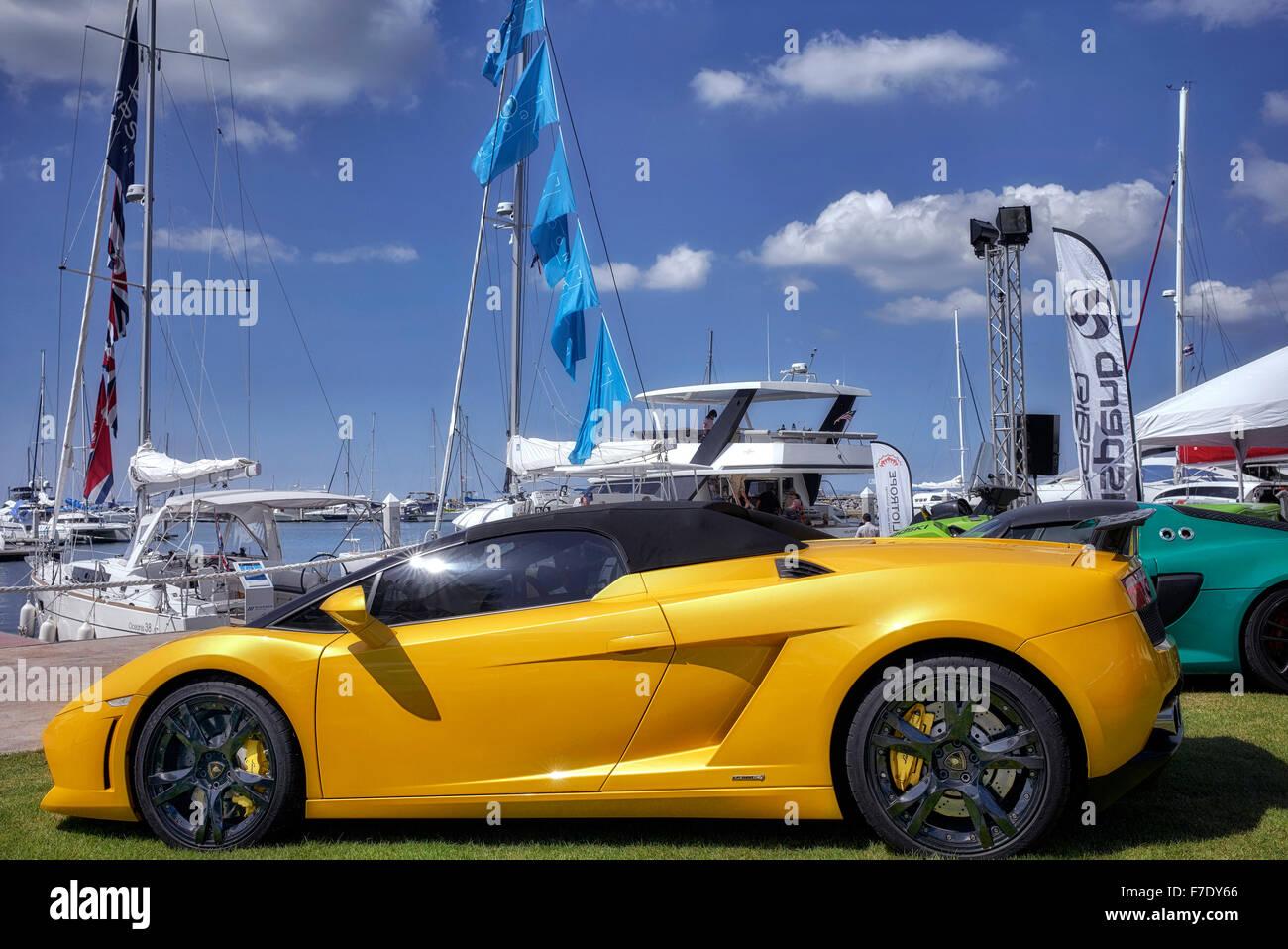 Lamborghini Gallardo Yellow Stock Photos Lamborghini Gallardo