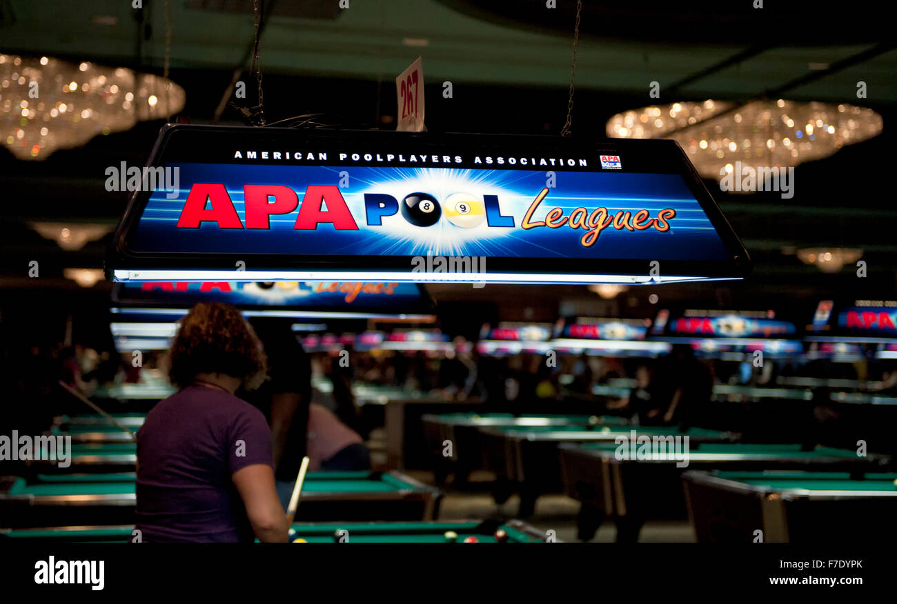 The American Pool Players Association (APA) national tournament at The Westgate Hotel and Casino in Las Vegas, Nevada - Stock Image
