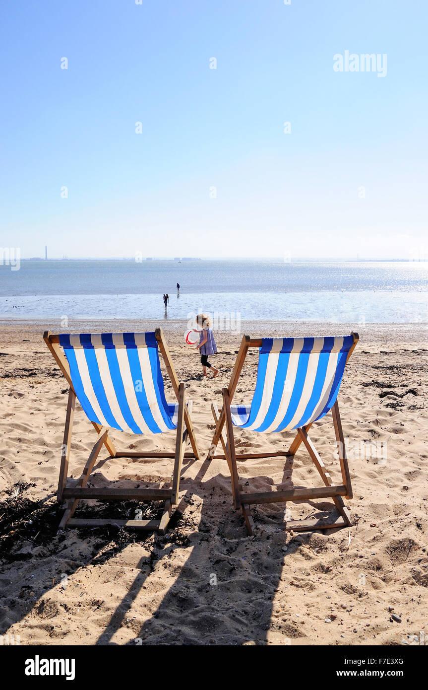 Three Shells Beach, Western Esplanade, Southend-on-Sea, Essex, England, United Kingdom - Stock Image