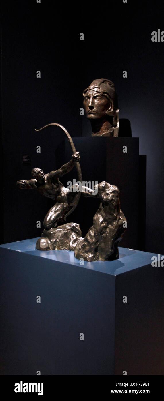 Museo Nacional de Bellas Artes bronzes. National Musuem of Fine Arts, Buenos Aires, Argentina - Stock Image