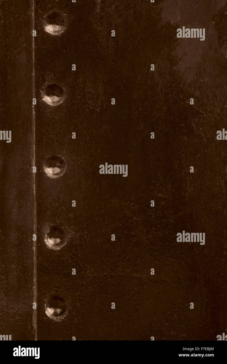 brown old steel texture or vintage abstract background - Stock Image