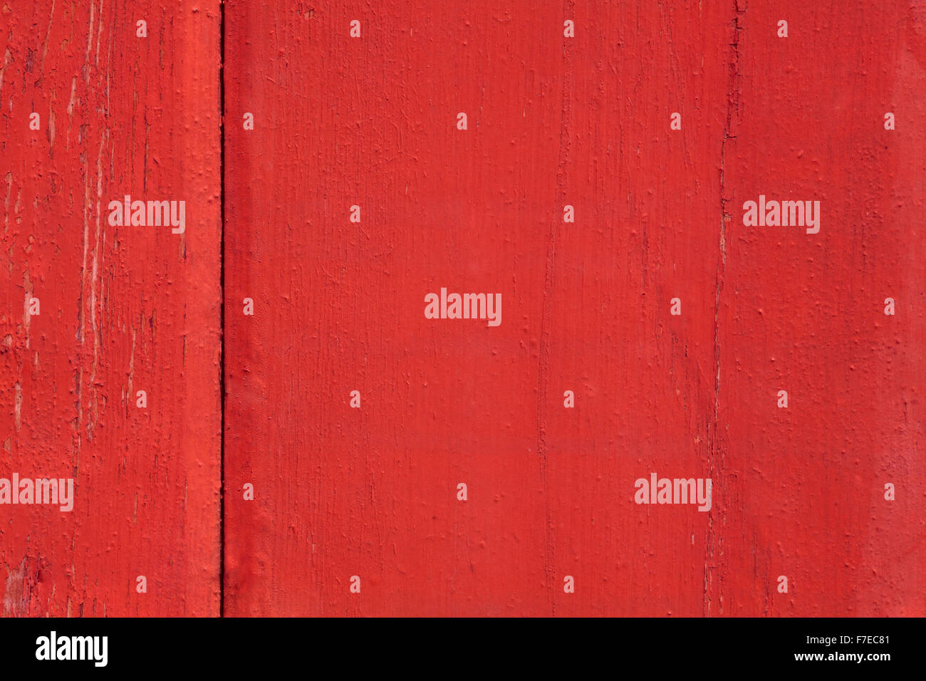 red wooden background or exfoliated paint wood texture - Stock Image