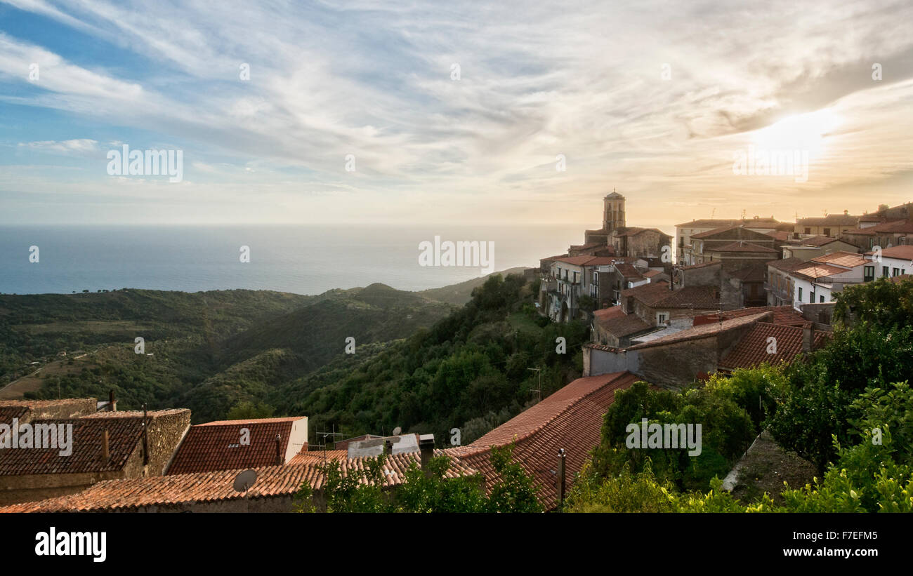 Pollica is a small village over the sea in Cilento, in the south of Italy. The origin is old, the way of life make - Stock Image