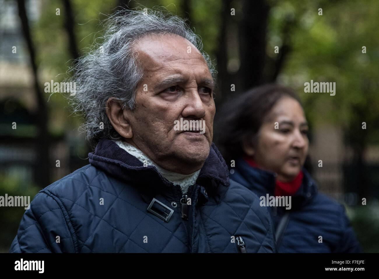 London, UK. 30th November, 2015. Aravindan Balakrishnan from the alleged extreme left-wing Maoist cult arrives at - Stock Image