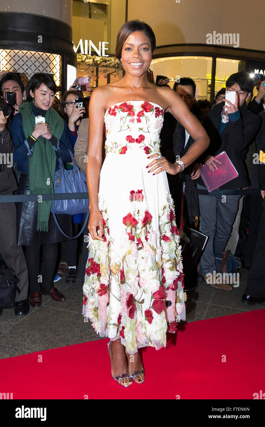 Tokyo, Japan. 30th November, 2015. British actress Naomie Harris poses for the cameras during a special red carpet - Stock Image