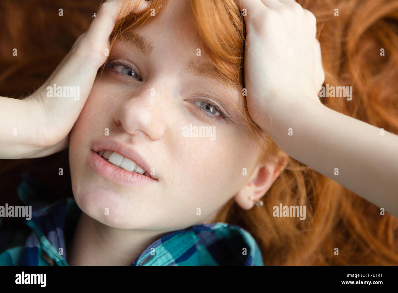 Redhead girl on girl