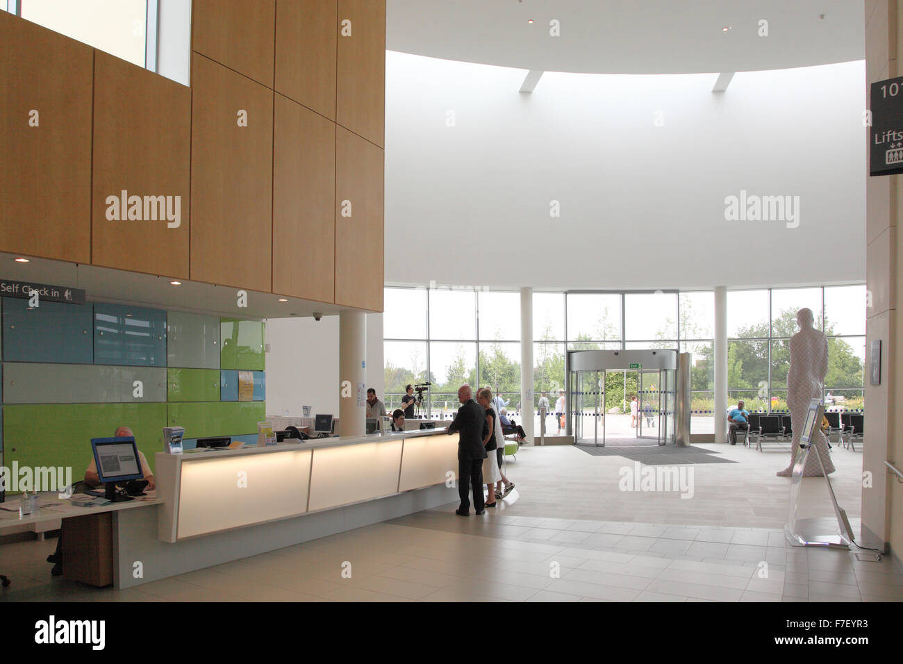 Hospital Check In Area : Main reception and public areas at the broomfield hospital