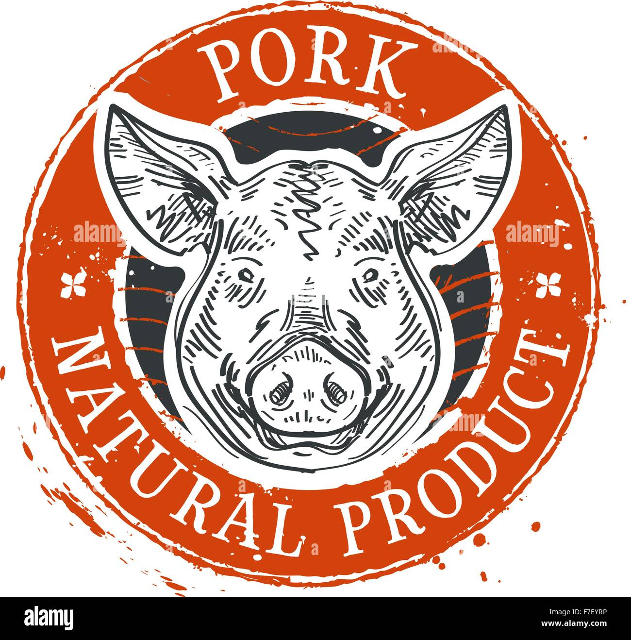 pig, swine vector logo design template. pork or farm icon - Stock Vector