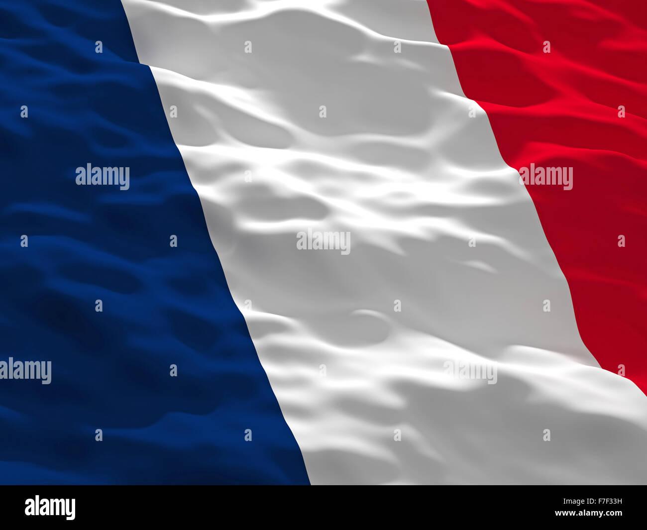 3d France Flag Background Europe Paris Illustration Render