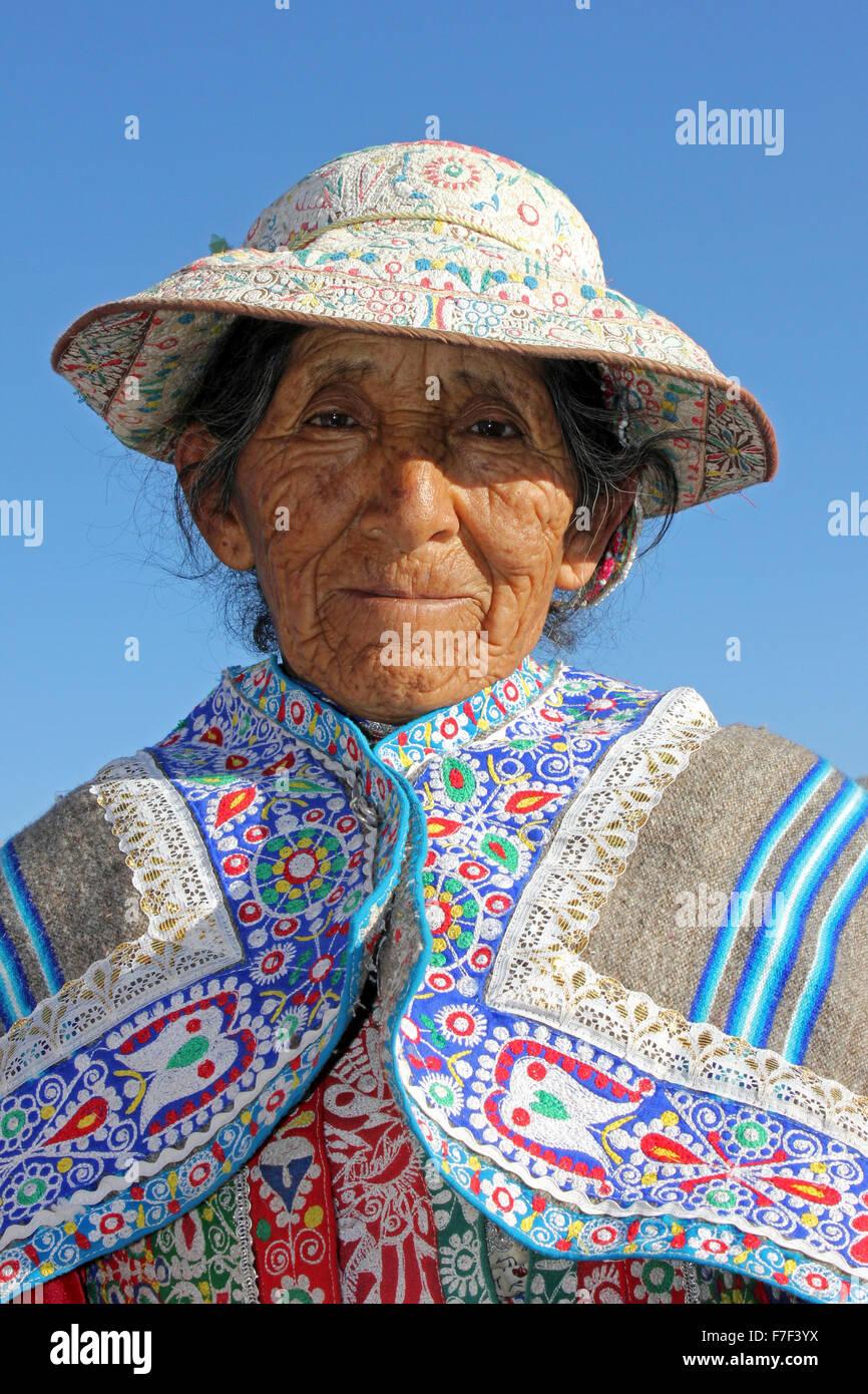 Elderly Quechua Woman - Stock Image