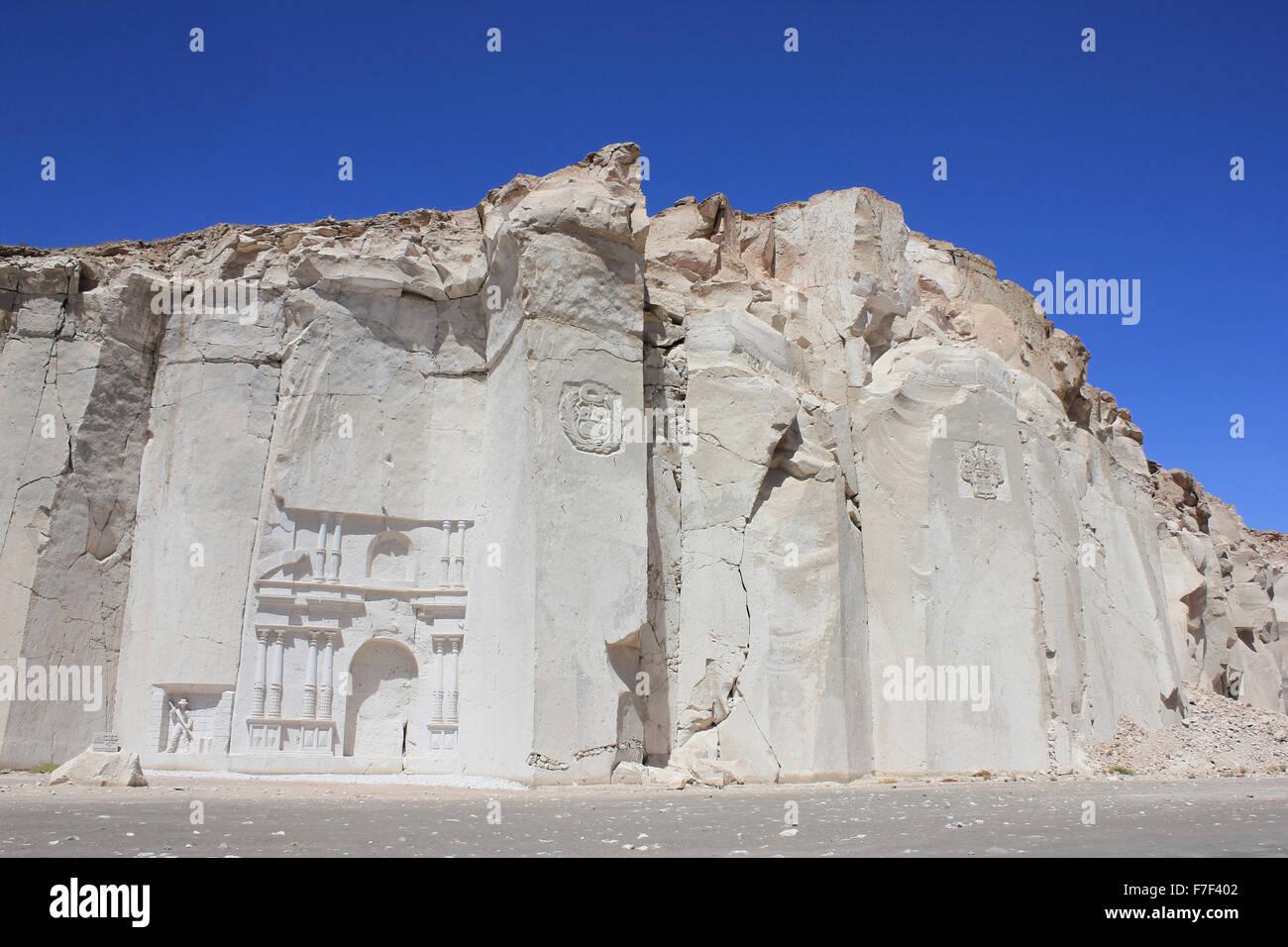 La Ruta del Sillar Quarry Near Arequipa Peru - Stock Image