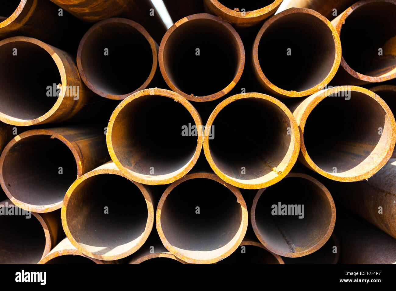 Stack of pipes - Stock Image
