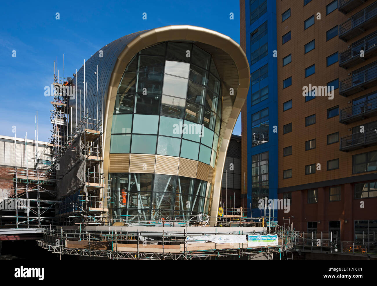 Contruction of new southern entrance at the railway train station Leeds West Yorkshire England UK United Kingdom Stock Photo
