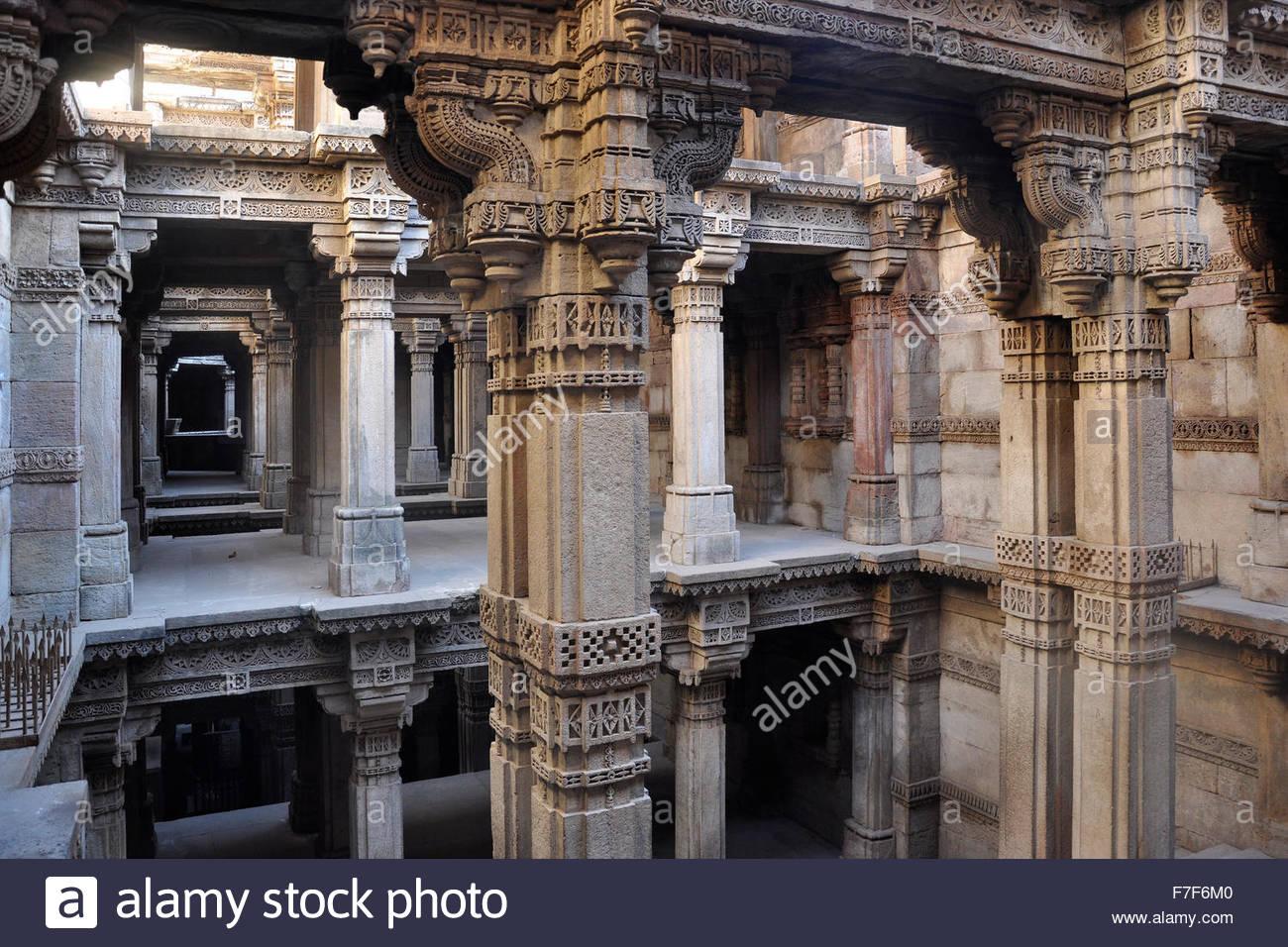 Gujarat,Ahmedabad,Swaminarayan Akshardham Temple - Stock Image