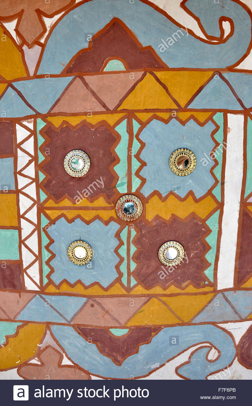 Gujarat,Rann of Kutch,decorations - Stock Image