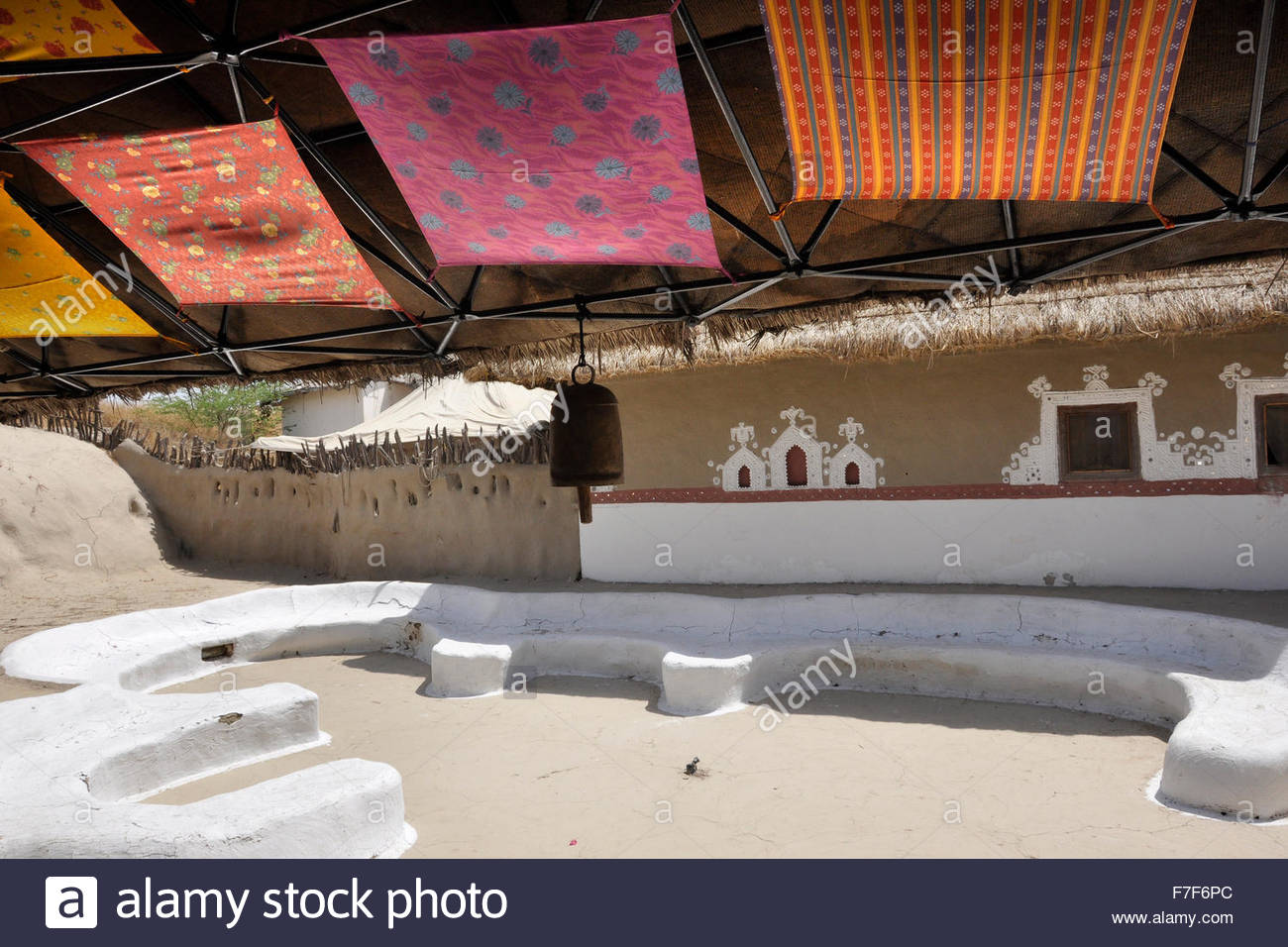 Gujarat,Rann of Kutch,architecture - Stock Image